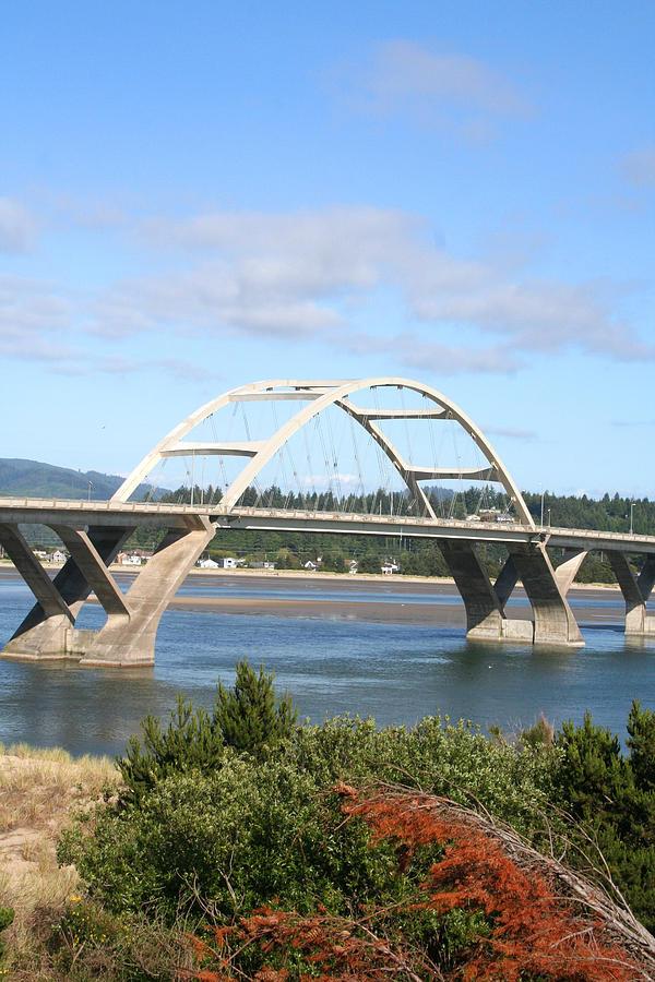 Alsea Photograph - Alsea Bridge II Br-7005 by Mary Gaines