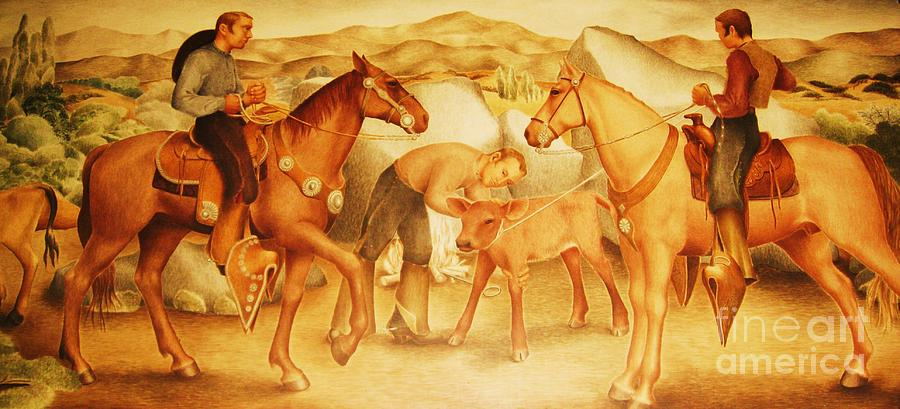 Pd Painting - Alta California Rancheros by Pg Reproductions