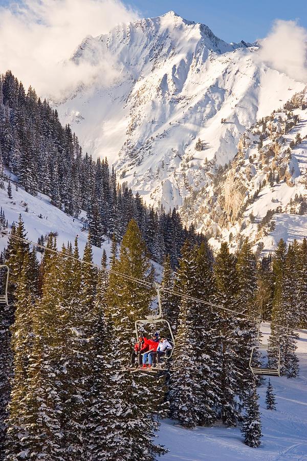 Alta Ski Resort Photograph - Alta Ski Resort Wasatch Mts Utah by Utah Images