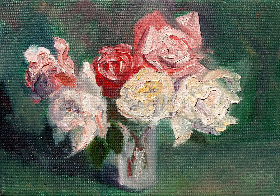 Roses Painting - Altadena Roses by Athena Mantle
