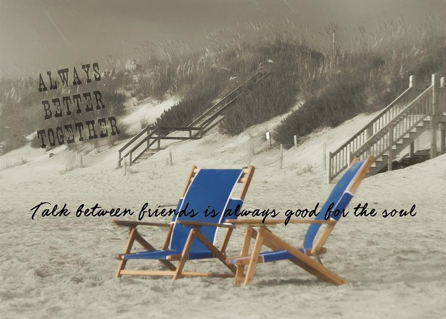 Beach Photograph - Alter Ego Quote by JAMART Photography