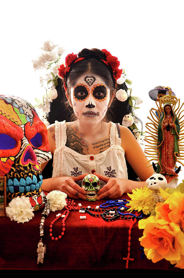 Day Of The Dead Photograph - Alter by Juan Herrera