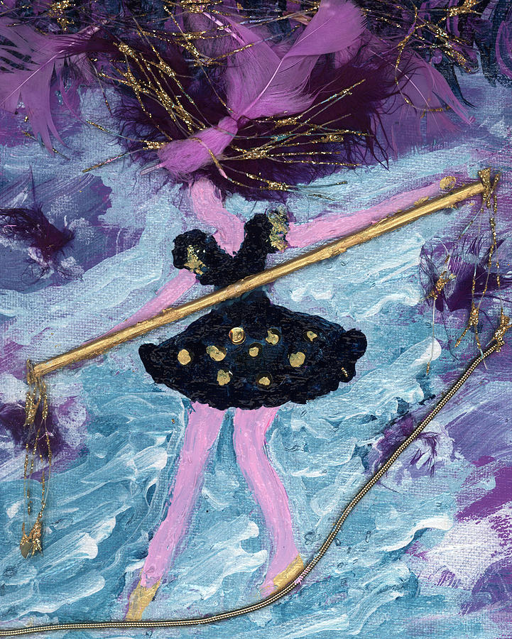 Women Painting - Althea Balances Her Life After Chemo by Annette McElhiney