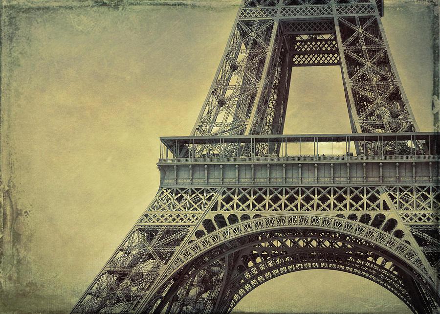 Paris Photograph - Altitude 95 Grunge by JAMART Photography