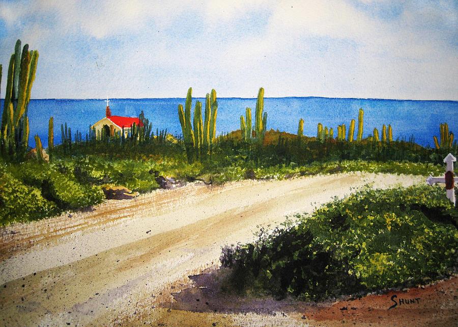 Aruba Painting - Alto Vista Chapel by Shirley Braithwaite Hunt