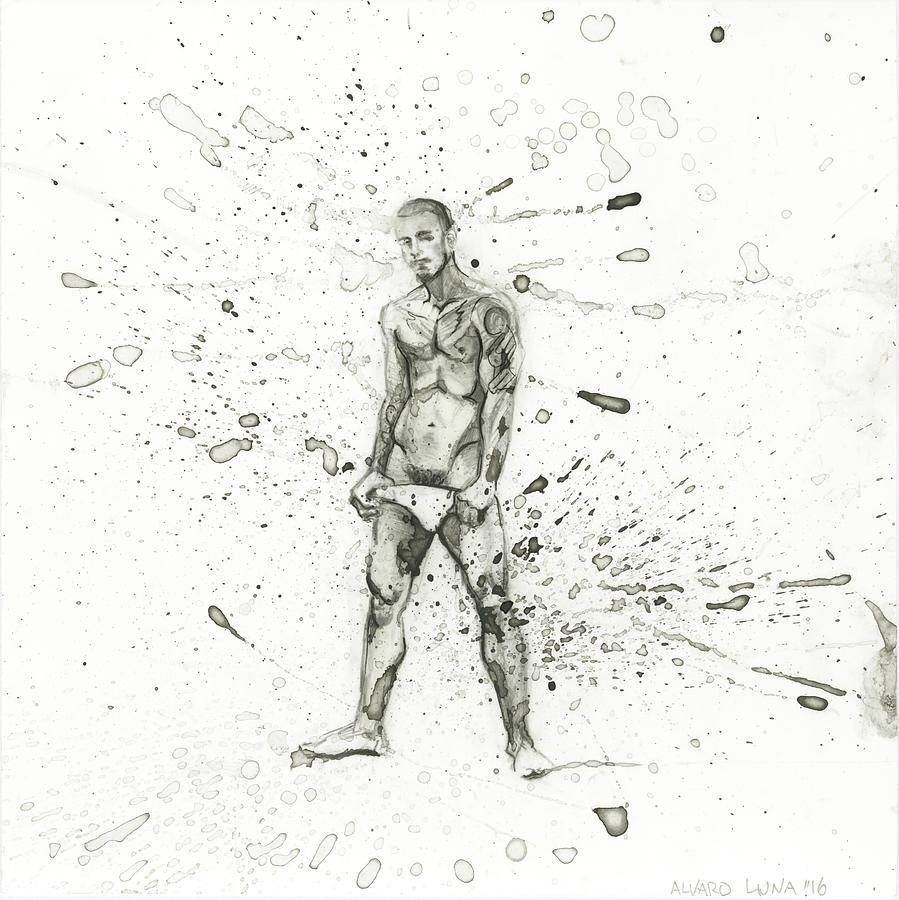 Briefs Painting - Alu16004 by Alvaro Luna