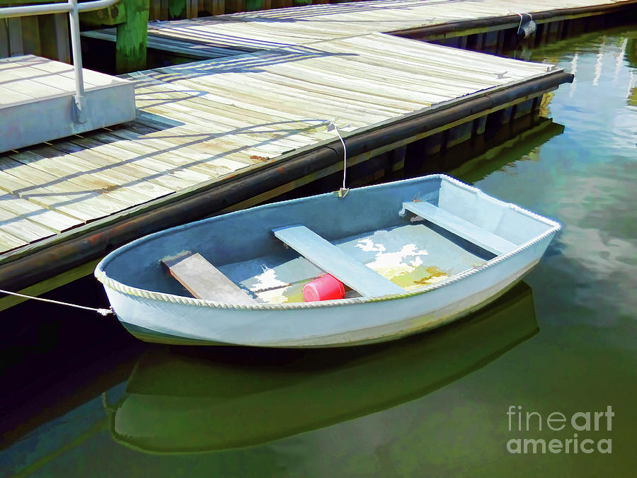 Aluminum Boat In Water 2