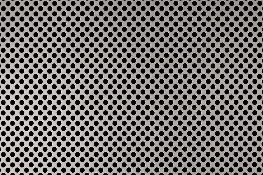 Aluminum Photograph - Aluminum Hole Texture Silver Metal Circle Steel by TextureX