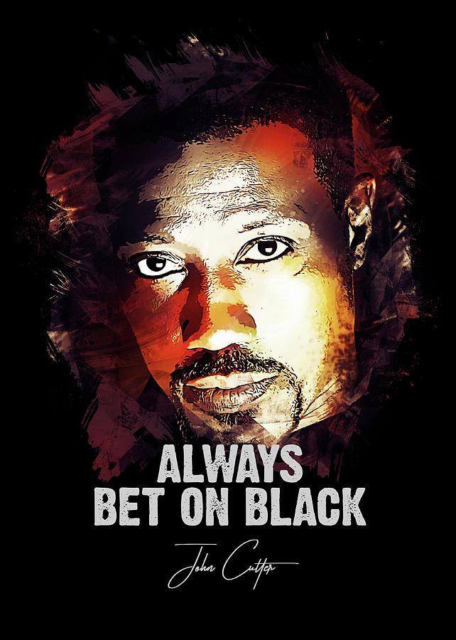 Wesley Snipes Digital Art - Always Bet on Black - Passenger 57 by Dusan Naumovski