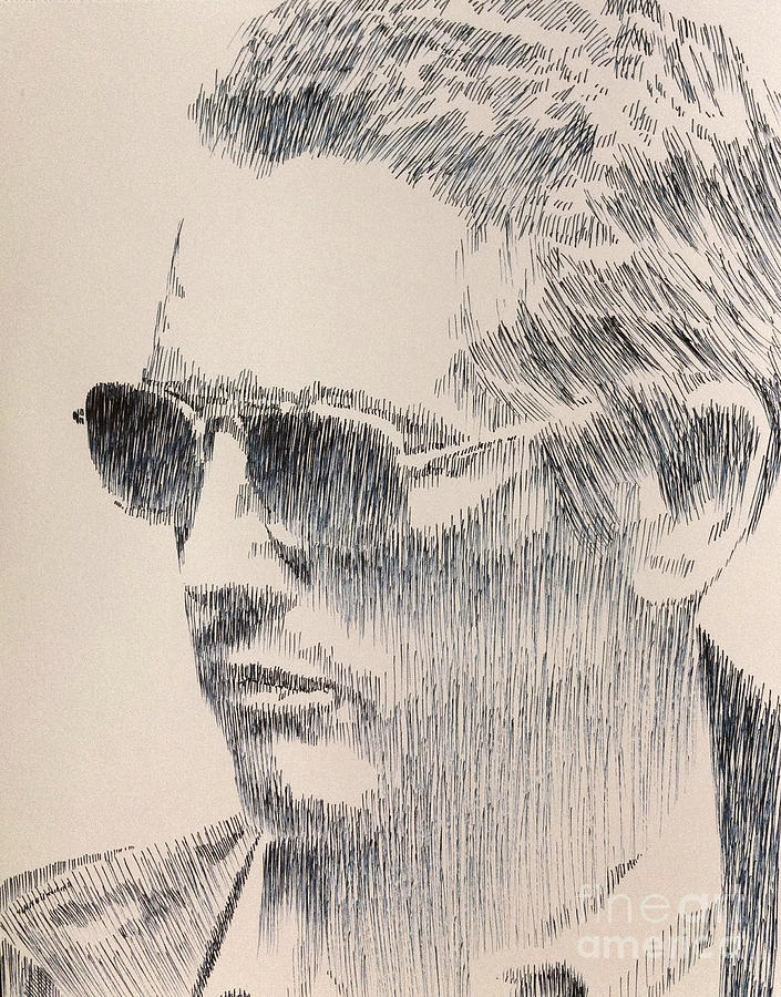 Paul Newman Drawing - Always Cool by Robbi  Musser