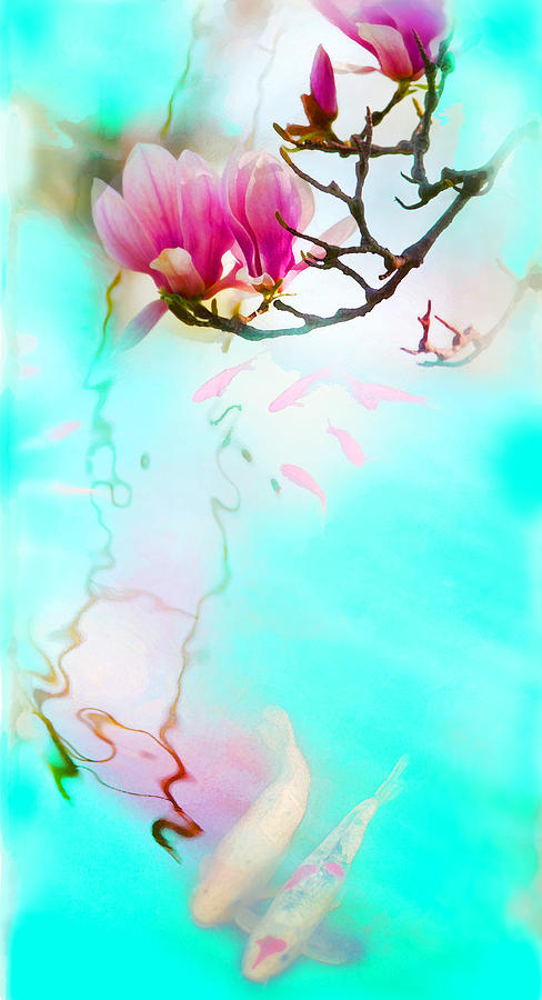 Koi Photograph - Always together by Gina Signore