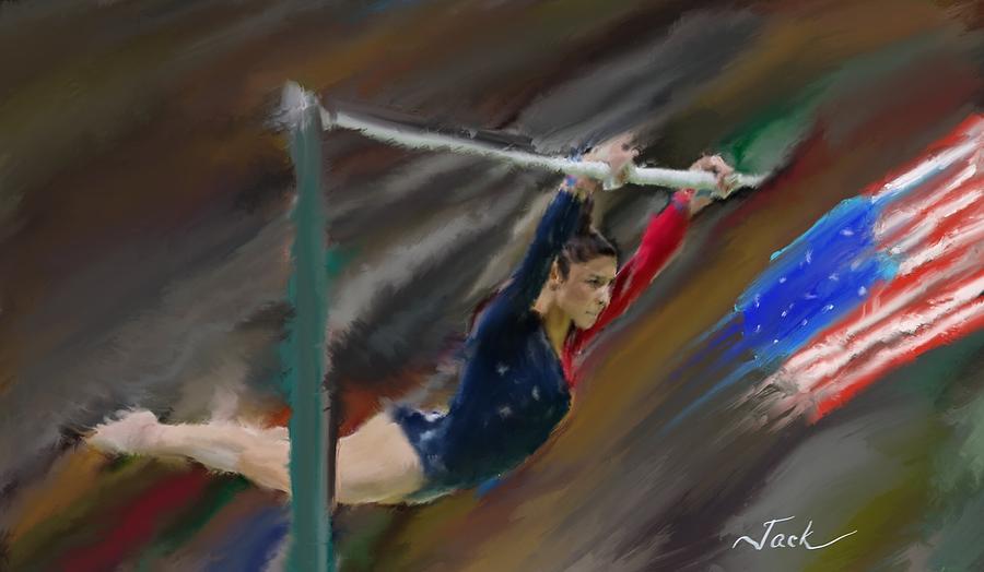 e2bf37545b58d Aly Raisman Digital Art by Jack Bunds
