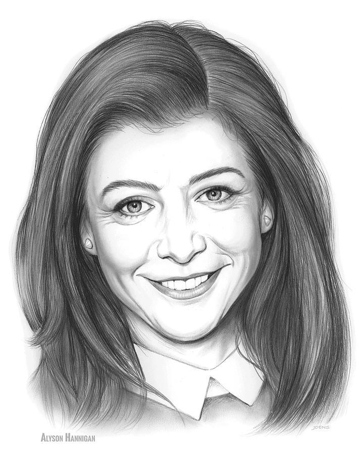 Alyson Hannigan Drawing - Alyson Hannigan by Greg Joens