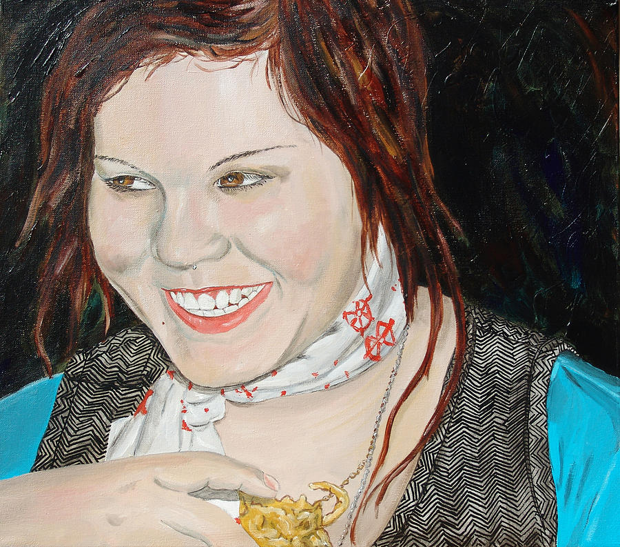 Kevin Callahan Painting - Alyssa Smiles by Kevin Callahan