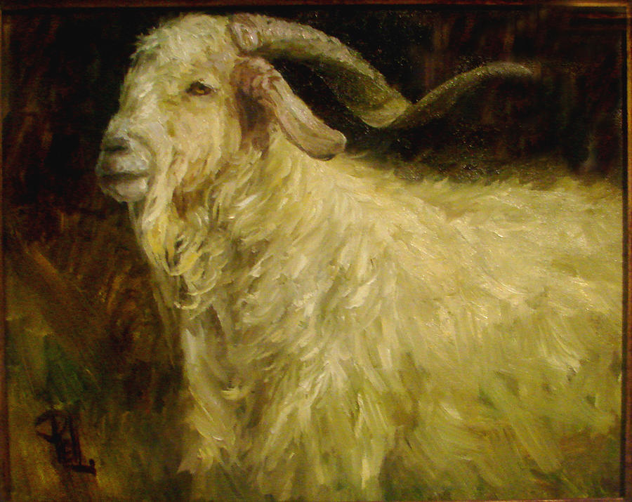 Goat Painting - Am I Handsome Or What by Lilli Pell