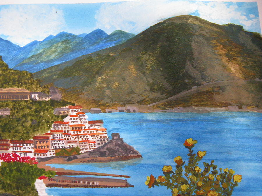 Amalfi Painting - Amalfi Coast by Trilby Cole