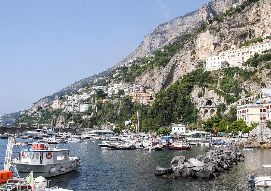 Salerno Photograph - Amalfi Coast Italy by Allan Levin
