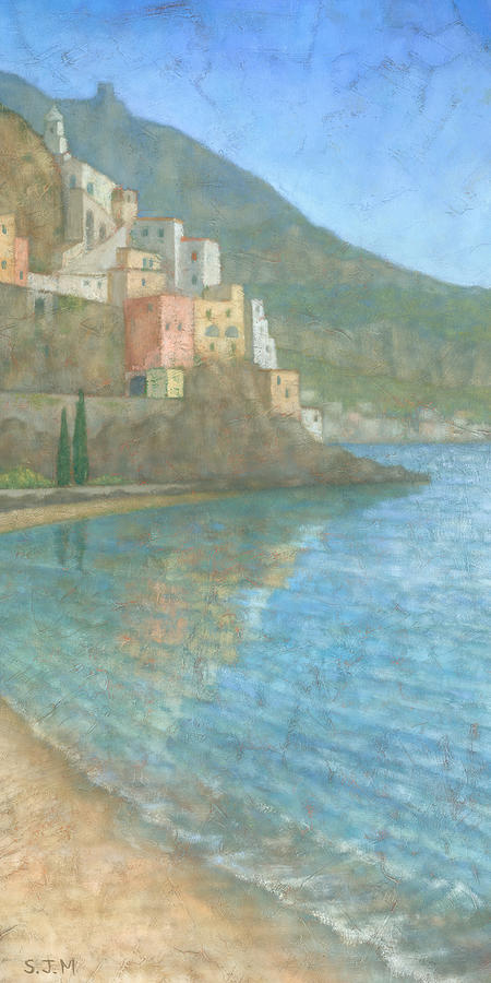Blue Painting - Amalfi by Steve Mitchell
