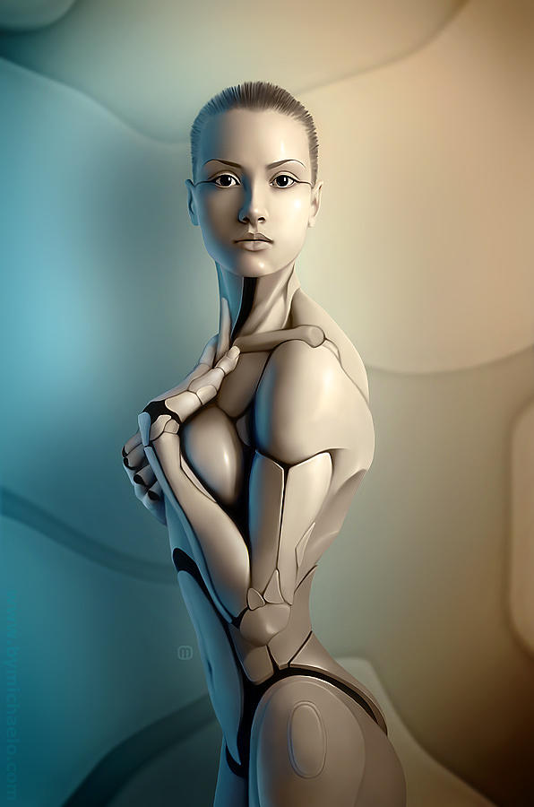 Robot Digital Art - AmalgaMATE by MichaelO