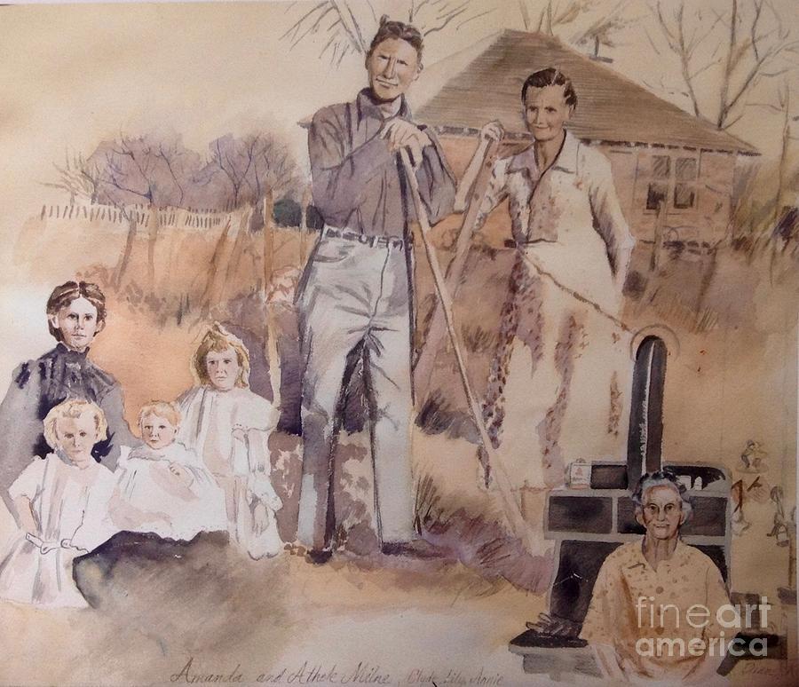 Vintage Painting - Amanda And Athole Milne Collage by Diane Renchler