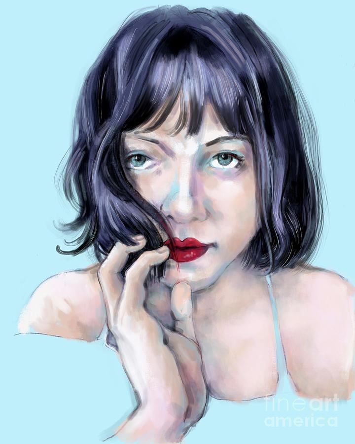 Portrait Digital Art - Amanda by Lora Serra