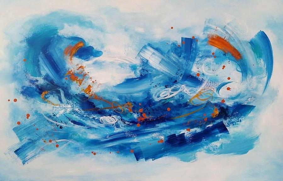 Abstract Painting - Amandas Melody  by Amber Tattersall