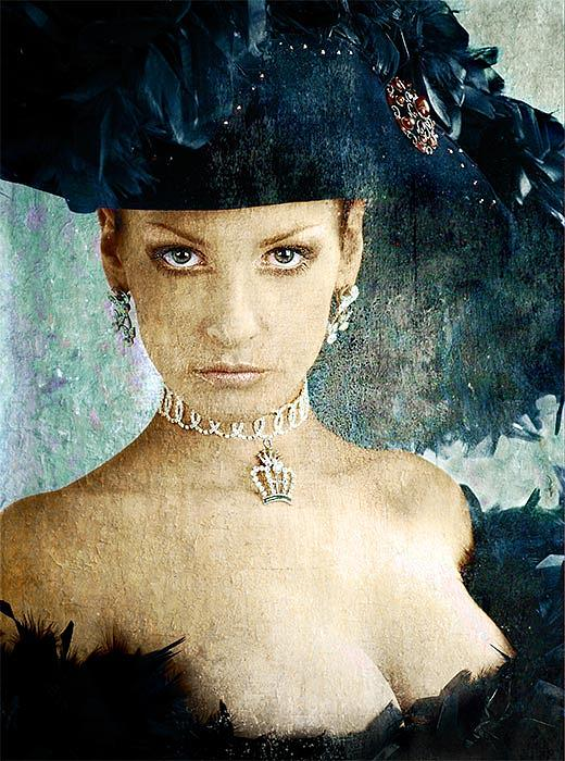 Portrait Photograph - Amarald Girl by Zygmunt Kozimor