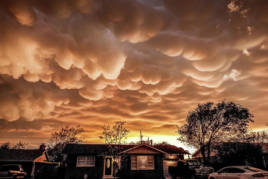 Severe Weather Photograph - Amarillo Mammatus by Scott Cordell