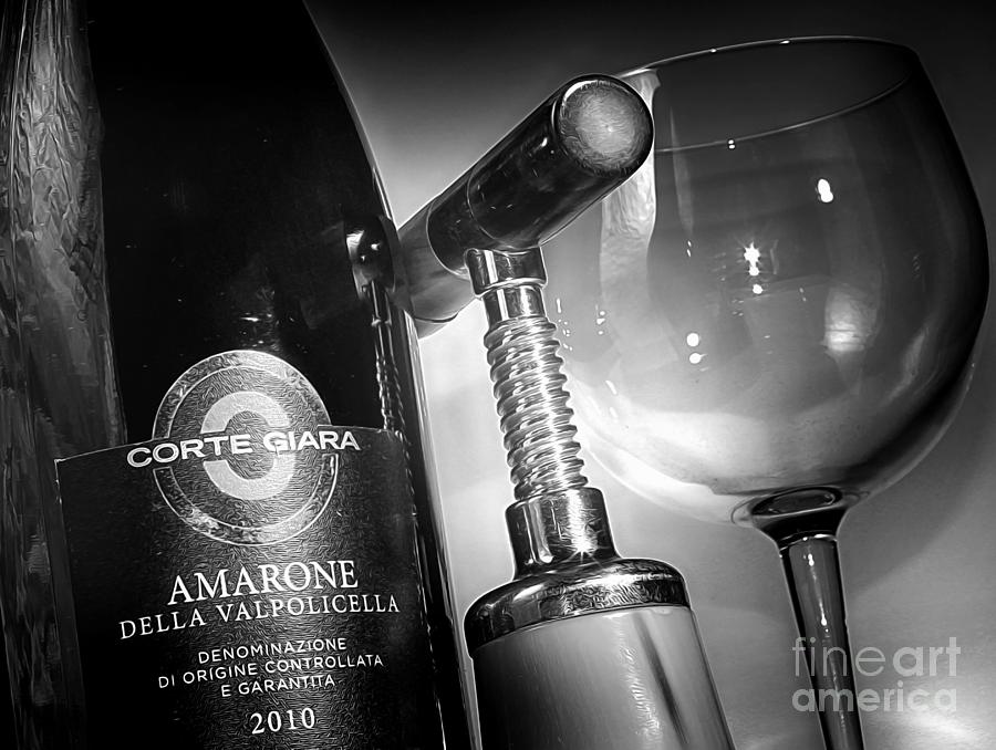 Amarone Photograph - Amarone Black and white by Stefano Senise