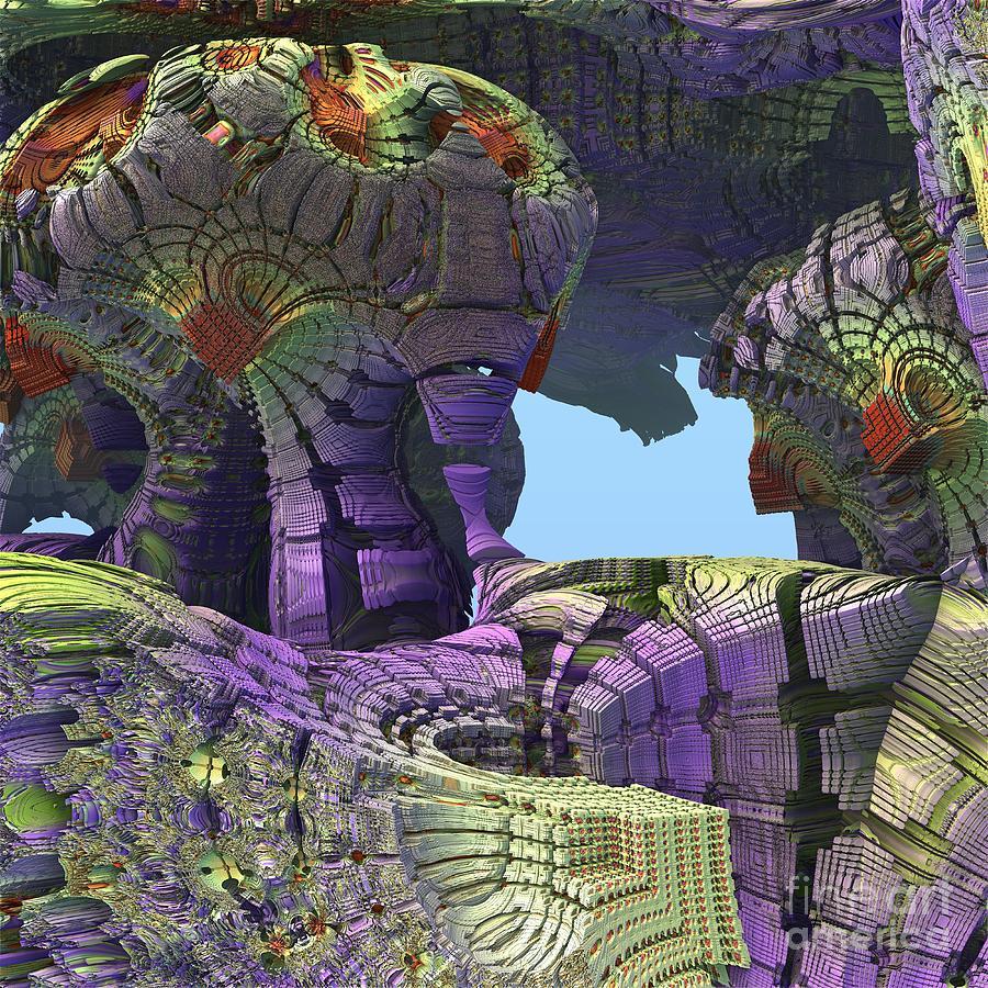 Mandelbulb 3d Digital Art - Amazing Construct by Michelle H