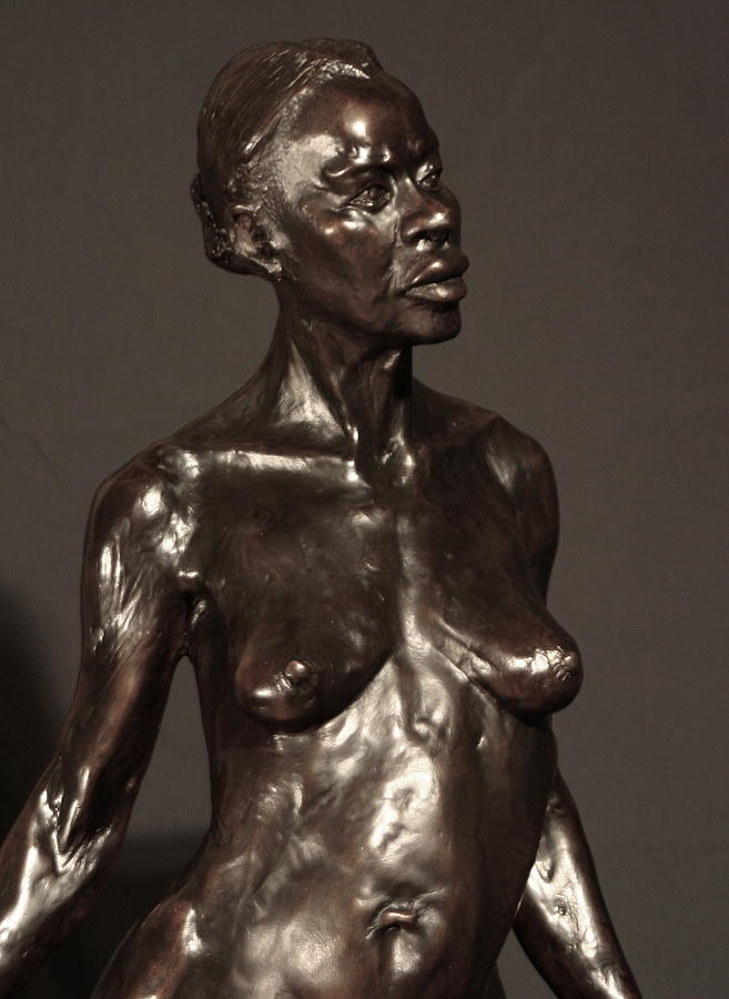 Bronze Sculpture Sculpture - Amazing Grace Close Up View by Dan Earle