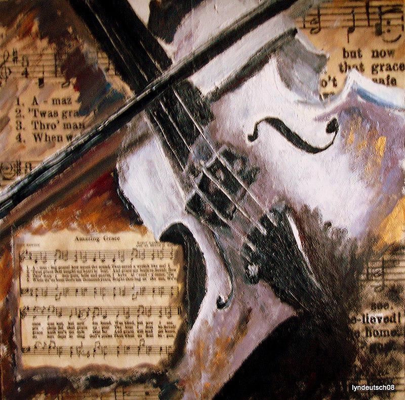 Hymn Painting - Amazing Grace by Lyn Deutsch
