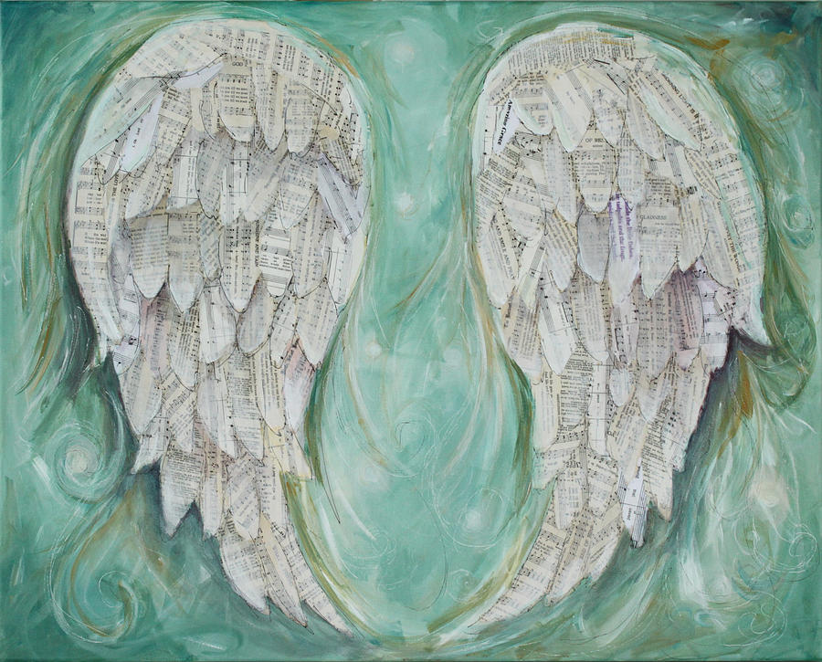 Sheet Music Painting - Choir Of Angels  by Michelle Lake