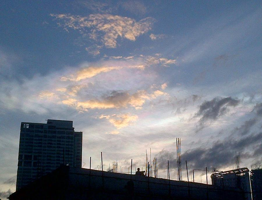 Amazing Magical Rainbow Colored Clouds Over The City 15 Photograph By Pamela Abeleda