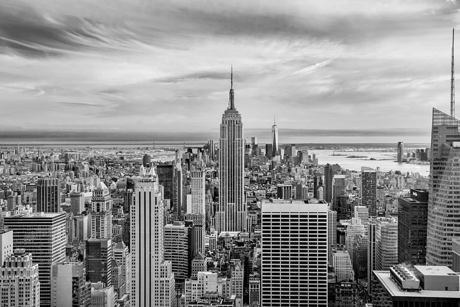 Empire State Building Photograph - Amazing Manhattan Bw by Az Jackson
