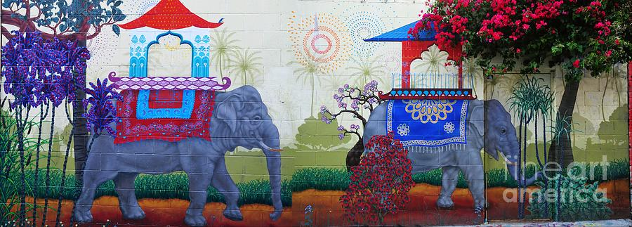 Elephant Photograph - Amazing Wall Art Painting Or Elephants by Akshay Thaker- PhotOvation