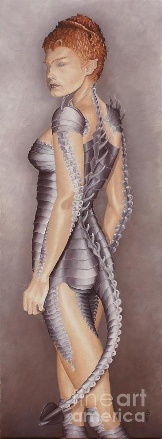Portrait Painting - Amazon Scorpio by Pauline Sharp