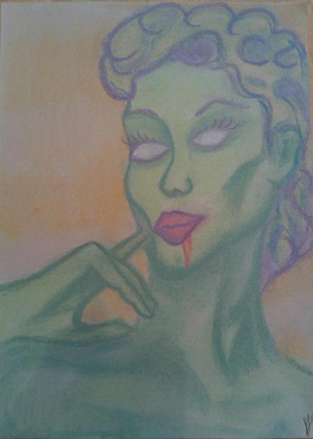 Zombie Pastel - Amazon Zombie by Jason Longbrake