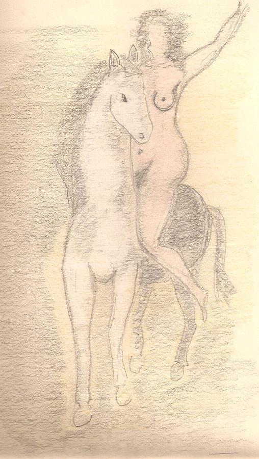 Amazona Drawing by Rakyul - Raul Augusto Silva Junior