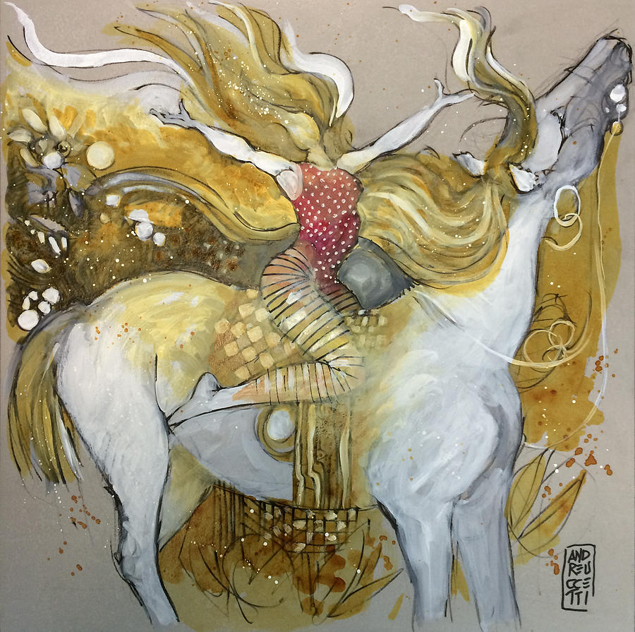 Horse Painting - Amazone by Alessandro Andreuccetti