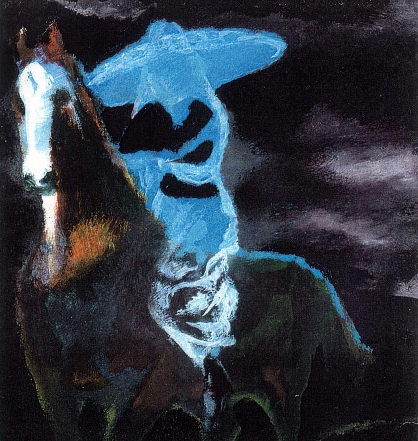Horse Painting - Amazzone Notturna by Enrico Garff