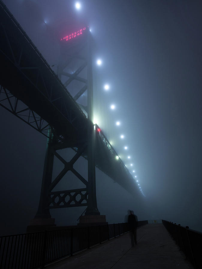 Ambassador Bridge In Fog Photograph