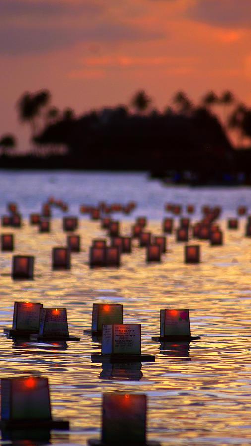 Amber Lanterns Photograph by Todd Hummel