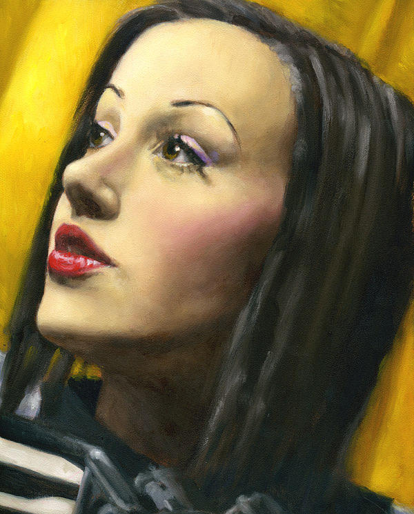 Portrait Painting - Amber Marie.. A Portrait Study by Anna Weber