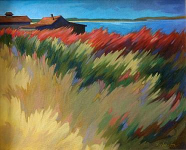 Landscape Painting - Amber Waves by Roberta Smith