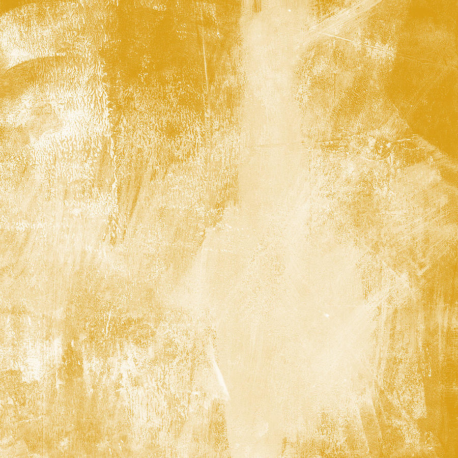 Abstract Painting - Amber Waves by Linda Woods