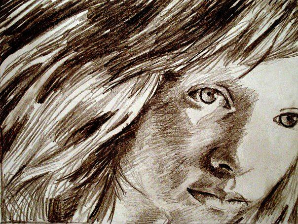 Portrait Drawing - Amber by Zachary Goodson