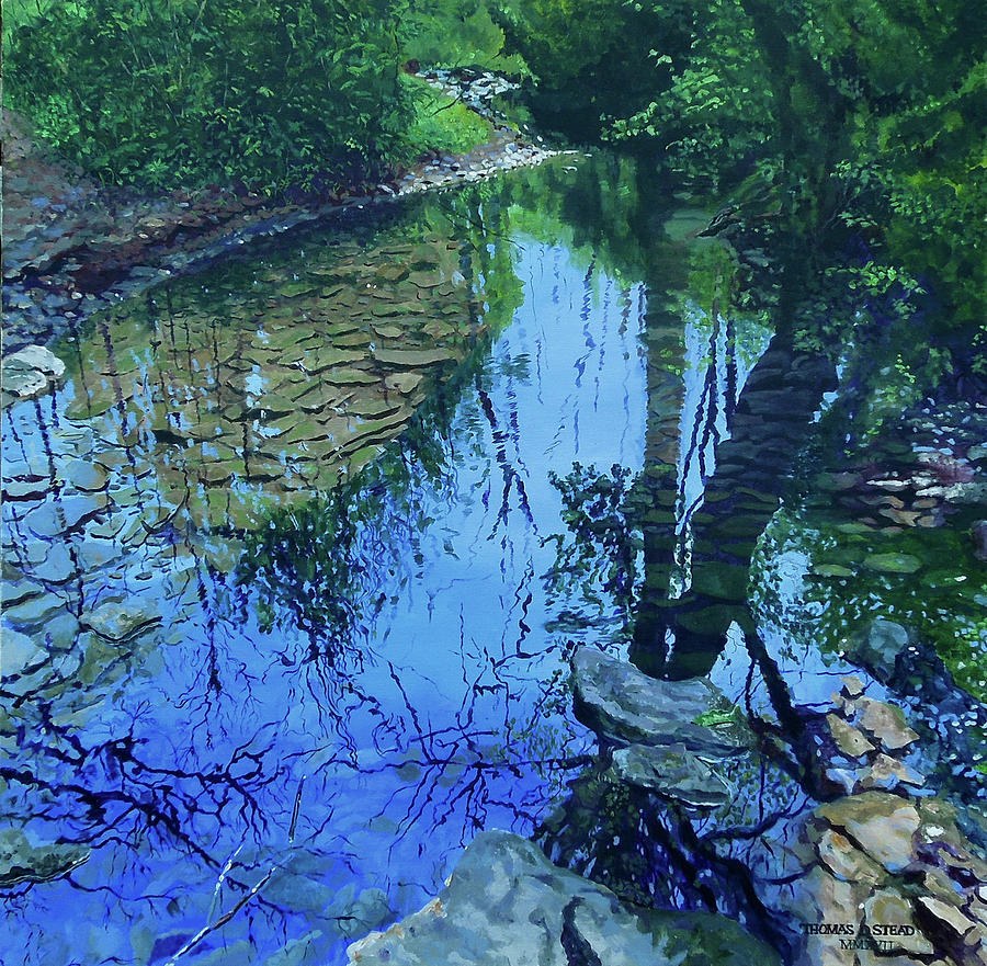 Reflections Painting - Amberly Creek by Thomas Stead