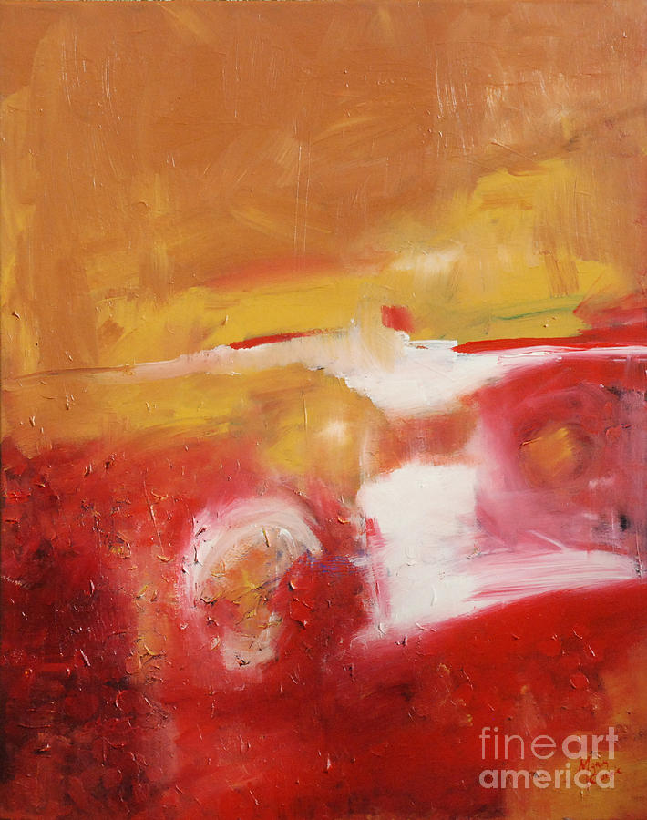 Abstract Landscape Painting - Ambers Rising by Maria Curcic