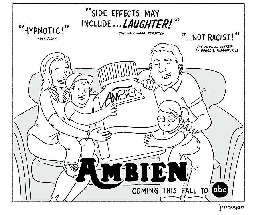 Ambien Coming This Fall To Abc Drawing by Jeremy Nguyen